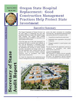 Hospital replacement: good construction management practices help protect state investment